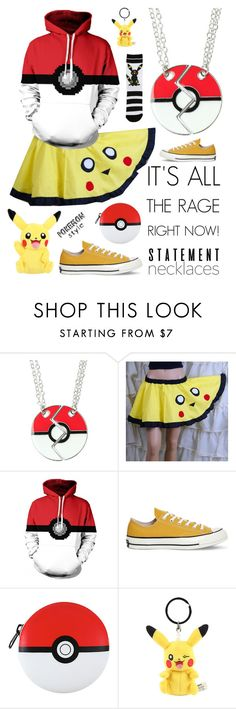 """""""Collared: Statement Necklaces"""" by nonniekiss on Polyvore featuring Converse"""