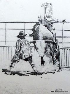 Derk Hansen Bull Riding Birthday invite