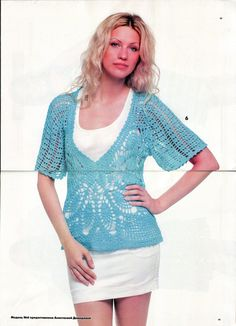 Crochet Short Sleeve - Renee - Lei Yu Xuan - with all the diagrams at source