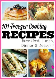 Make ahead meals that you can freeze and use later...