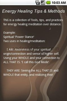 Free Energy Healing Tips & Methods Android Download
