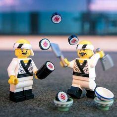 Lego Sushi Master Sushi Master, Lego Ninjago Movie, Lego Figures, Cool Lego, Legoland, Legos, Toys, Lego Minifigure, Instagram Posts