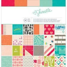 American Crafts Shimelle 12x12 Patterned Paper Pad 48-sheet #368161
