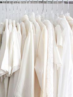 White shirts...lots of them..tees, blouses, plain wht. shirts..long-short sleeve..