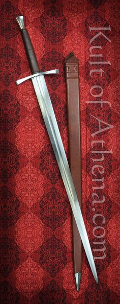Darksword - 15th Century Hand and a Half sword with Brown Scabbard