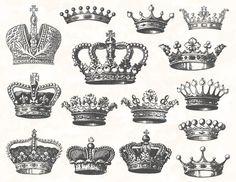 Digital Crown Clip Art Digital Heraldic Clip by TracyDigitalDesign