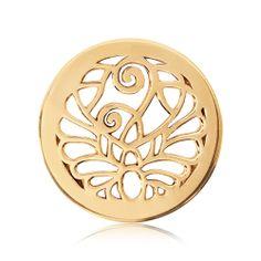 Nikki Lissoni Gold-tone 23.6mm Fantasy Peacock Coin