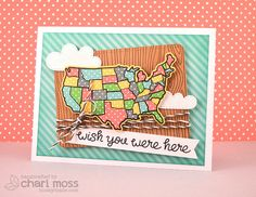 WishYouWereHere by Lawn Fawn Design Team Lawn Fawn Blog, Lawn Fawn Stamps, Spring Shower, Miss You Cards, Wish You Are Here, Card Making Inspiration, Tampons, Copics, Creative Cards
