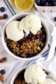 Blueberry Almond Crisp is a sweet-tart celebration of blueberries with an irresistible crisp topping!