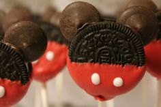 Cake pops de Mickey Mouse