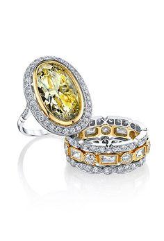 Yellow Diamond Engagement Rings   Brides