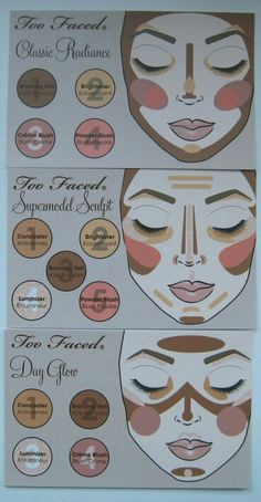Types of contour from the brand Too Faced