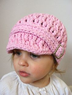 Love hats!!!  Baby Hat 9 to 12 Month Baby Girl Crochet Cotton by TwoSeasideBabes, $29.00