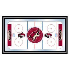 Trademark Global NHL Phoenix Coyotes Framed Hockey Rink Mirror - NHL1500-PC