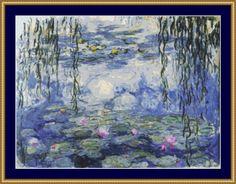 Water Lilies Cross Stitch Pattern
