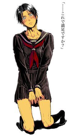 【女装注意!】高尾に黒セーラー着せてちょっと嫌がられたかったやつに色付けた。
