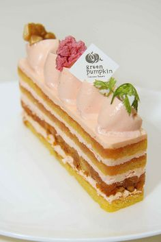 Sakura Cherry Blossom buttercream cake with caramelized walnuts