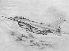 Airplane Sketch, Airplane Drawing, Air Force Reserve, Us Air Force, Drawing Sketches, Pencil Drawings, Drawing Ideas, F 16 Falcon, Waterfalls