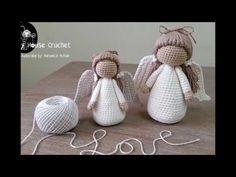 Ángel a crochet parte I - YouTube