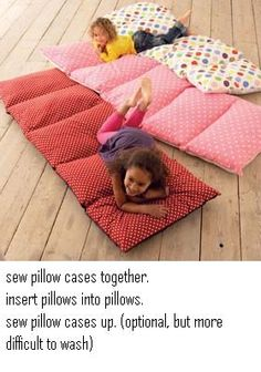 I would velcro the end where the pillows are inserted. otherwise...how are you gonna wash the cases? kids are not the cleanest...