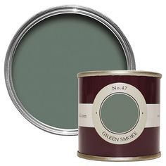 Farrow & Ball Breakfast Room Green Estate emulsion paint Tester pot - B&Q for all your home and garden supplies and advice on all the latest DIY trends Farrow And Ball Living Room, Farrow And Ball Kitchen, Living Room Green, Bedroom Green, Master Bedroom, Card Room Green Farrow And Ball, Garden Bedroom, Girls Bedroom, Farrow Ball
