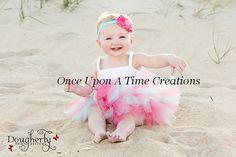 Summer Coral and Aqua Tutu  Newborn 3 6 9 12 by OnceUponATimeTuTus, $19.99