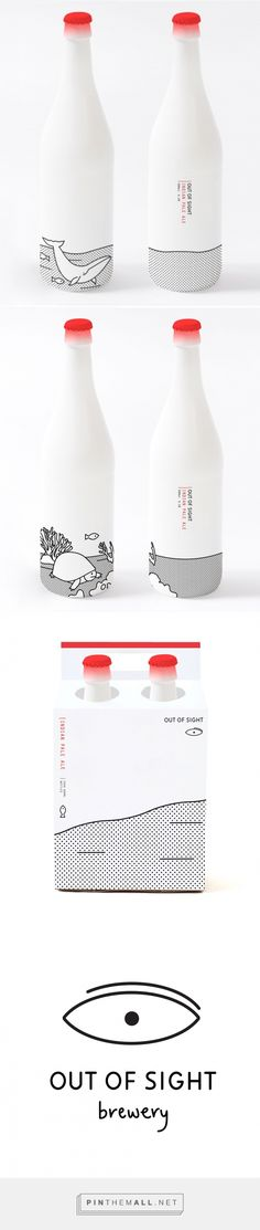Out of Sight via Oh Beautiful Beer designed by Joanna Copperman curated by Packaging Diva PD. One for the packaging smile file : ) (Beer Bottle) Beverage Packaging, Bottle Packaging, Pretty Packaging, Brand Packaging, Design Packaging, Coffee Packaging, Fruit Packaging, Simple Packaging, Beauty Packaging