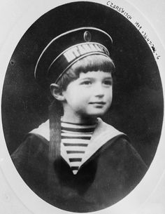 Alexei Nikolaevich Romanov of Russia (August 12 1904 – July 17 1918) was the youngest child and only son of Tsar Nicholas II and Princess Alix and was the heir apparent to the throne of the Russian Empire. Sadly when he was only 13 years old, he was executed with his entire family.