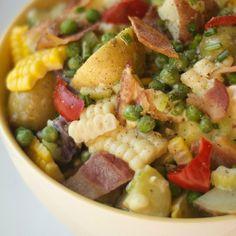 Picnic Side Dish: New England Clambake Potato Salad
