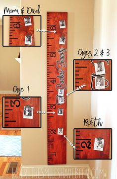 Family Growth Chart Ruler Updated with Yearly Photos! | Where The Smiles Have Been Life Size Ruler, Height Ruler, Flying With A Toddler, 3d Laser Printer, Woodworking Projects, Diy Projects, Woodworking Workbench, Weekend Projects, Woodworking Shop