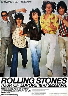 The Rolling Stones - Black And Blue 1976 - Poster Plakat Konzertposter