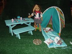 American Girl Doll camping gear. Great tute on several things.