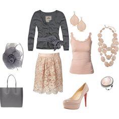 Romantic Look, soft and feminine.
