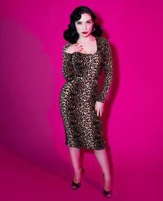 Vixen by Micheline Pitt wiggle dress
