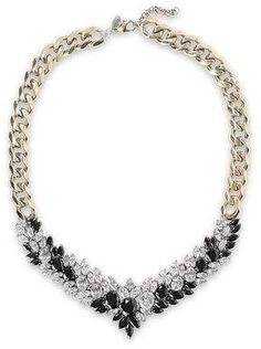 Shop on-sale Burnished gold-tone crystal necklace. Browse other discount designer Necklaces & more luxury fashion pieces at THE OUTNET Crystal Necklace, Gold Necklace, Iosselliani, Cheap Fashion Jewelry, Fashion Outlet, Necklace Designs, Discount Designer, Crystals, Luxury