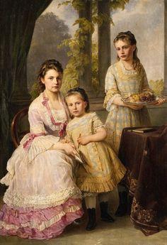 1877 Joseph Hartmann - Three Sisters