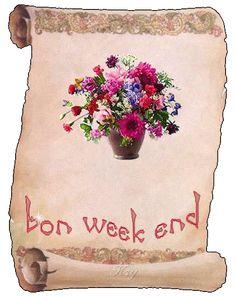 Pergamena Bon Weekend, Weekend Gif, Happy Weekend, Week End, Burlap, Reusable Tote Bags, Butterfly, Gifts, Presents