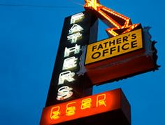 "Father's Office is a nationally acclaimed gastropub by Chef Sang Yoon that is famous for its amazing ""Office Burger"" with arugula and blue cheese...it's hands-down my favorite burger in LA! Their two locations (Santa Monica and Culver City) always have a great selection of craft beers and other delicious food items in case you don't feel like having the burger every time.  - Steph"