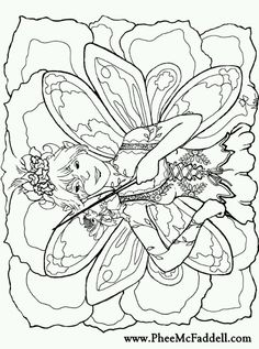 Phee McFaddell Artist love this one free coloring page