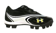 Under Armour Womens Glyde IV Rubber Molded Softball Cleats Black/White * Check this awesome image  : Shoes for Softball And Baseball