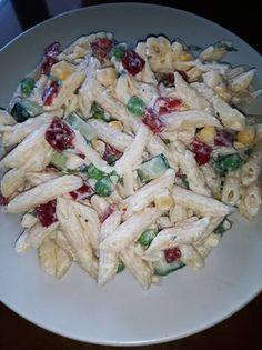 Salad Bar, Omelette, Salad Dressing, Rustic Kitchen, Pasta Dishes, Pasta Salad, Potato Salad, Cake Recipes, Recipies