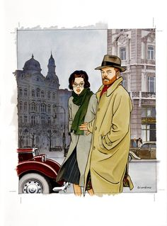 Vittorio Giardino Ligne Claire, Comic Covers, Illustrations, Cartoon Drawings, Character Concept, Painting & Drawing, Comic Art, Cool Pictures, Poster