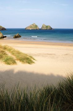 Holywell Bay Beach, just a short stroll from our park.