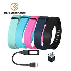 Activity Bracelets Fitness - Bandcase Set Size Large Multicolor Combinational Replacement Bands with Clasps a Charge Cable and a Charging Adapter for Fitbit Flex Only /No Tracker/ Wireless Activity Bracelet Sport Wristband Fit Bit Flex Bracelet Sport Arm Band Armband - The benefits of wearing these smart bracelets are not only in your comfort, but also in that they are able to control all your physical progress