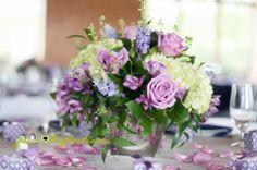 Centerpiece - Wedding Tables - Purple and Green - Flowers  Knoxville TN Florist - Wedding Flowers - Brides - Grooms - Silver - Elegant -  Lisa Foster Floral Design  www.lisafosterdesign.com