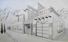 Farm House Perspective Drawing