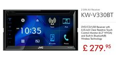 J#VC KW-V330BT #DVD #CD #USB #Bluetooth #TouchScreen #Car #Stereo #DoubleDin