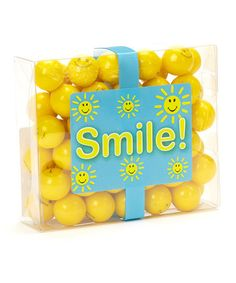 Aww! Send someone a box of smiles! Smile Gumball Box - Set of Three by Ooh La La Candy on #zulily today!
