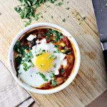 Permalink to: Poached Eggs in Tomato Sauce with Chickpeas, Feta and Swiss Chard...Eat.Live.Be