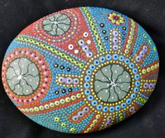 Peyote Button Hand Painted River Stone by Hikuri on Etsy